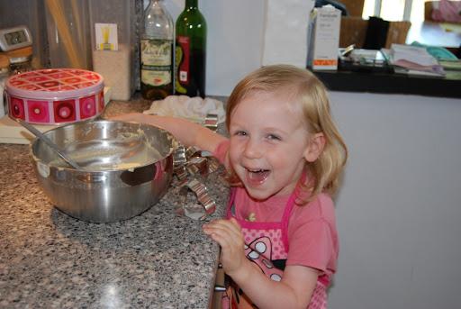 Aha! Een cadeautje bakken voor de juf!