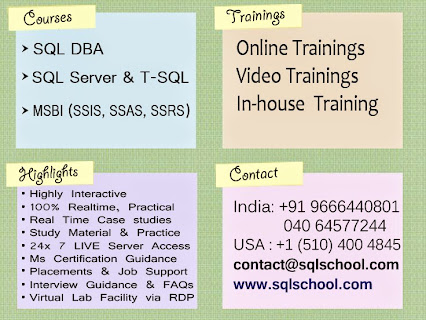 SQL School Trainings, Placements and Projects | SQL School