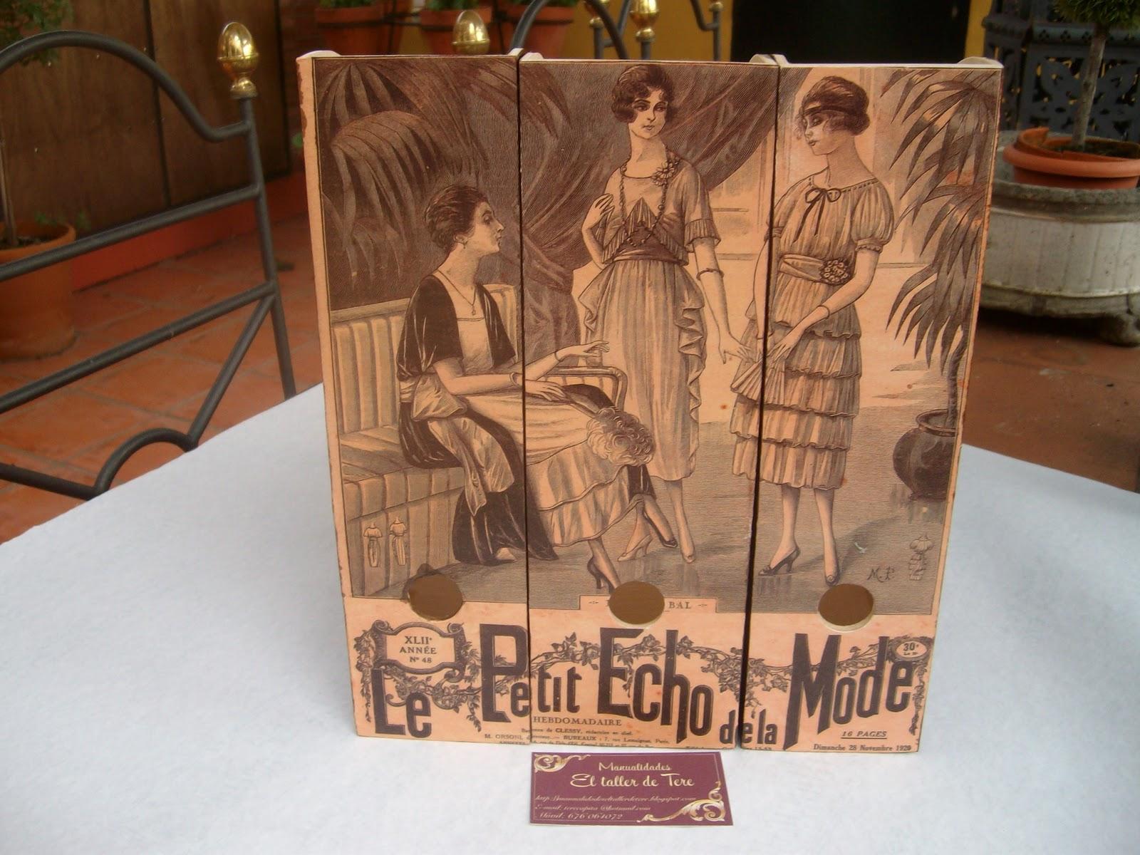 Manualidades el taller de tere archivadores de madera - Archivadores de madera ...
