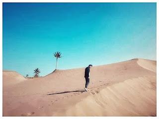 Padang pasir di pantai jogjakarta