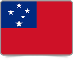 Samoan framed flag icons with box shadow