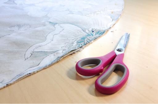 pyöreä muoto leikkaus kangas