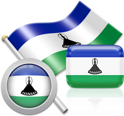 Basotho flag icons pictures collection