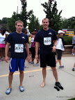 Mike and Shoeless Will before the race.