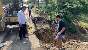 Antisipasi Banjir, Warga Gotong Royong Buat Gorong Gorong Akibat Longsor