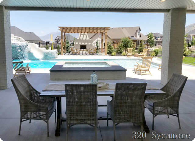 hot tub pool backyard patio pergola