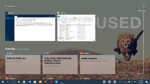 Review Fitur Timeline Windows 10 April Update