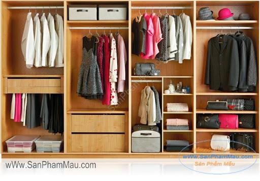 chia ngăn cho tủ quần áo