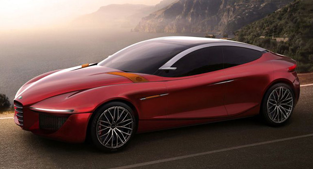 alfa romeo gloria concept is an audi a5 sportback sized. Black Bedroom Furniture Sets. Home Design Ideas