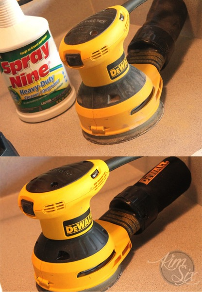 Cleaning random orbit sander
