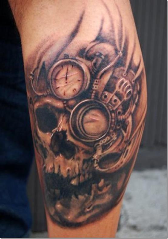 Plus cool steampunk conceptions de tatouage id es et photos de tatouages - Tatouage arriere bras ...