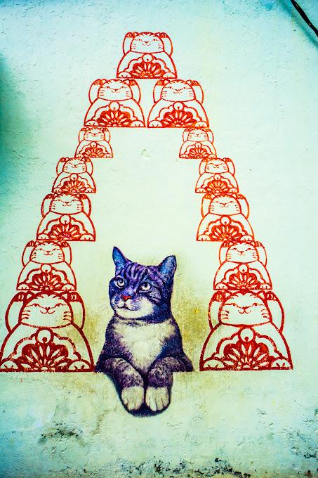 ペナン ジョージタウン ストリートアート Love Me Like Your fortune Cat2