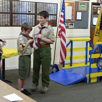 Taking off the Webelos Scarf!