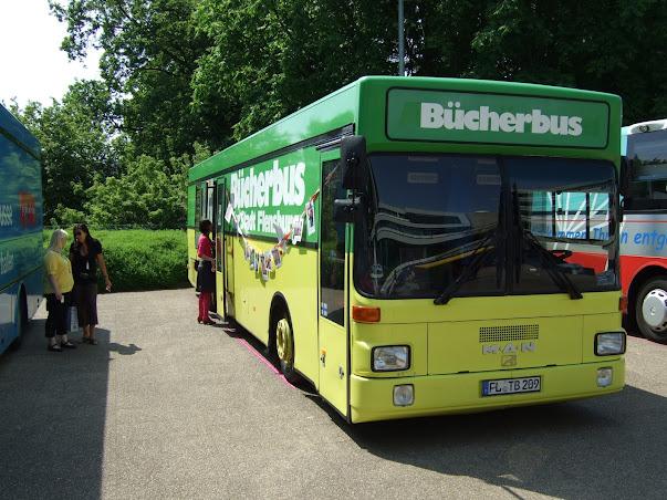 Bücherbus Flensburg auf dem Bibliothekartag 2012 in Hamburg