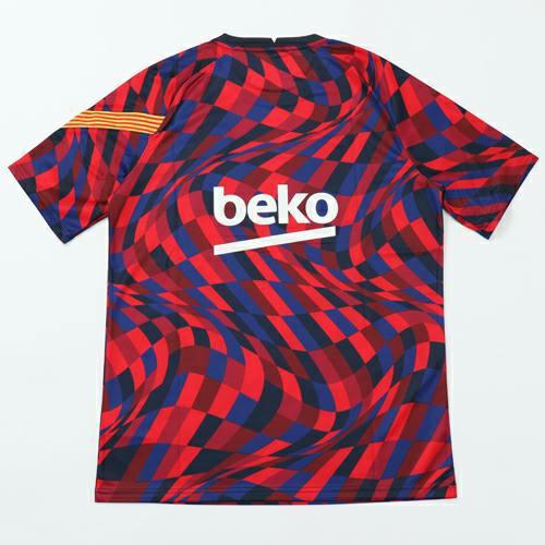 kaos jersey, baju bola prematch barcelona, jersey barca 2020-2021