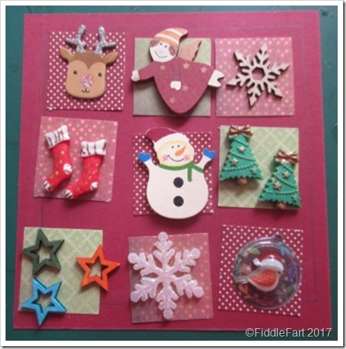 Christmas Patchwork Box Frame