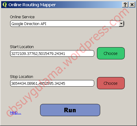 Shortest Path Analysis with Online Routing Mapper Plugin