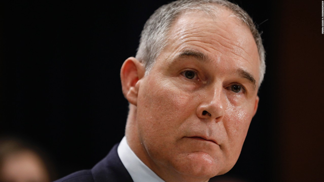 Scott Pruitt, Trump's pick to head the Environmental Protection Agency. Photo: CNN
