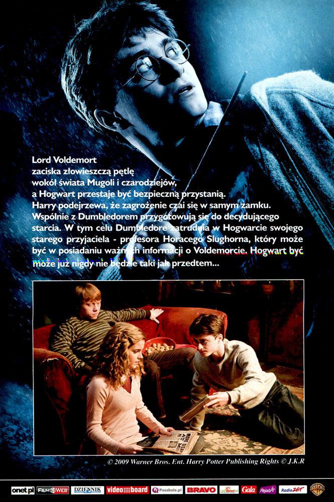 Ulotka filmu 'Harry Potter i Książę Półkrwi (tył)'