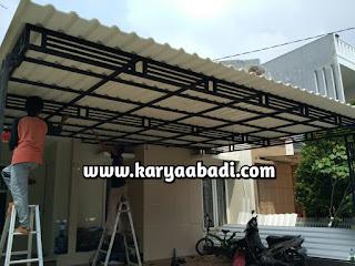 contoh kanopi menggunakan atap alderon