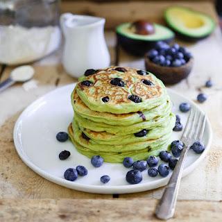 Blueberry Avocado Pancakes.