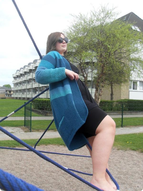 Blue Sand or Turquise - Cardigan til Emilie