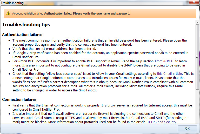 IMAP access stopped working for my gmail - Gmail Help