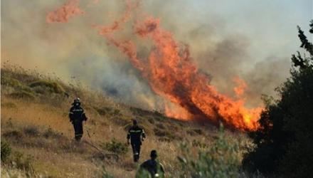 Μεγάλη φωτιά τώρα στην Εύβοια - Επιχειρούν και εναέρια μέσα