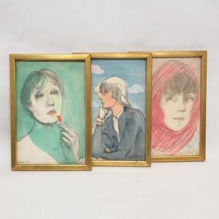 Signed Portrait Trio