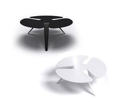 Ronde iris design koffietafel van Bihain