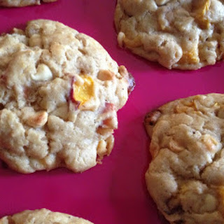 White Chocolate Peach Scones
