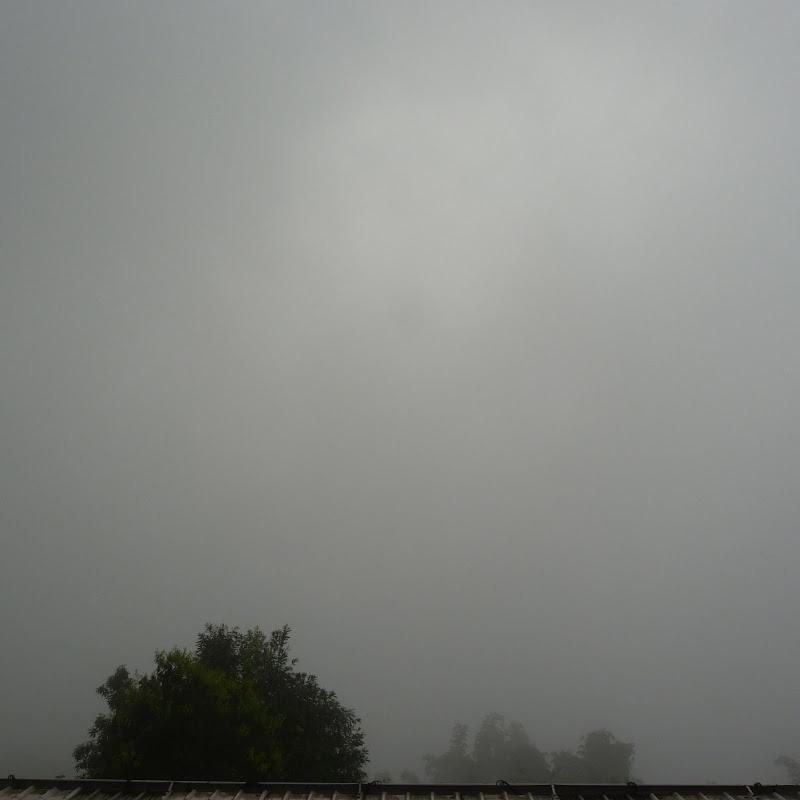 Avec la pluie on ne voit plus rien