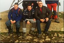 Ganalto mendiaren gailurra 898 m. -- 2016ko urtarrilaren 24an
