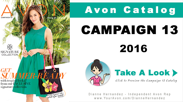 Avon Campaign 13 won't be available until May 25, 2016 but you can preview the catalog here.