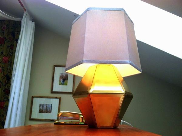 Glass Chandelier to Geometric Lamp