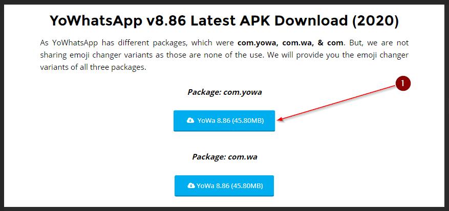 Download YoWhatsApp v8.86 Terbaru