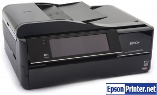 How to reset flashing lights for Epson PX830FWD printer