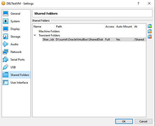 Oracle Virtual Box Share Folder