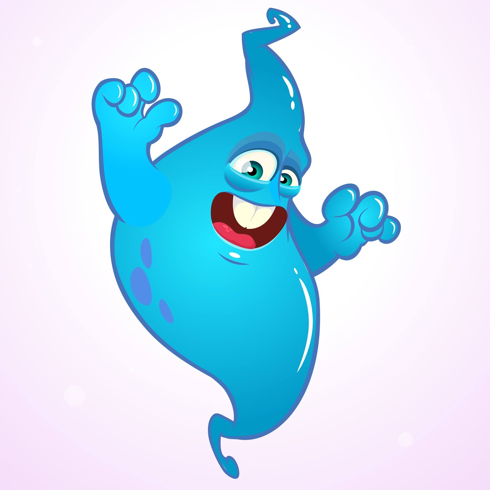 Cartoon Funny Ghost Illustration Funny Free Download Vector CDR, AI, EPS and PNG Formats