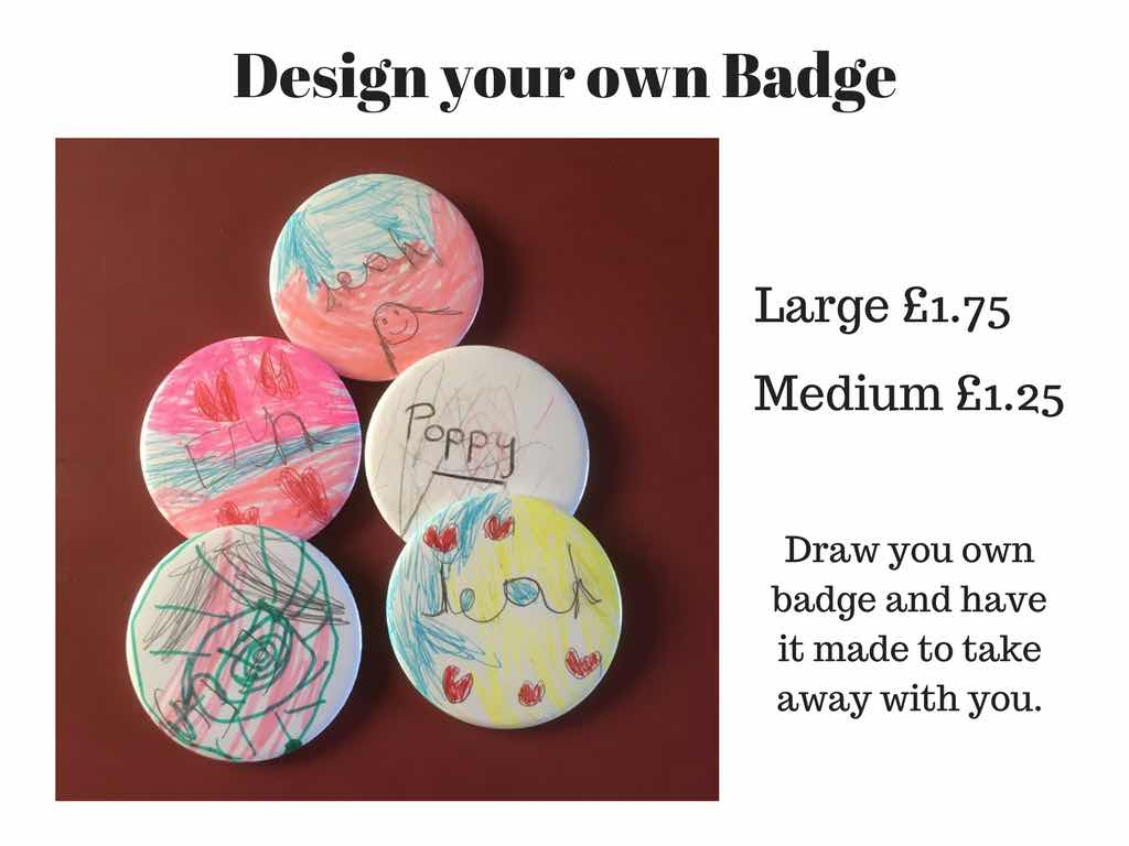 Badge, design your own, children, activity,