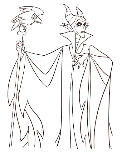 Disney 39 s maleficent free printables crafts and coloring for Maleficent coloring pages