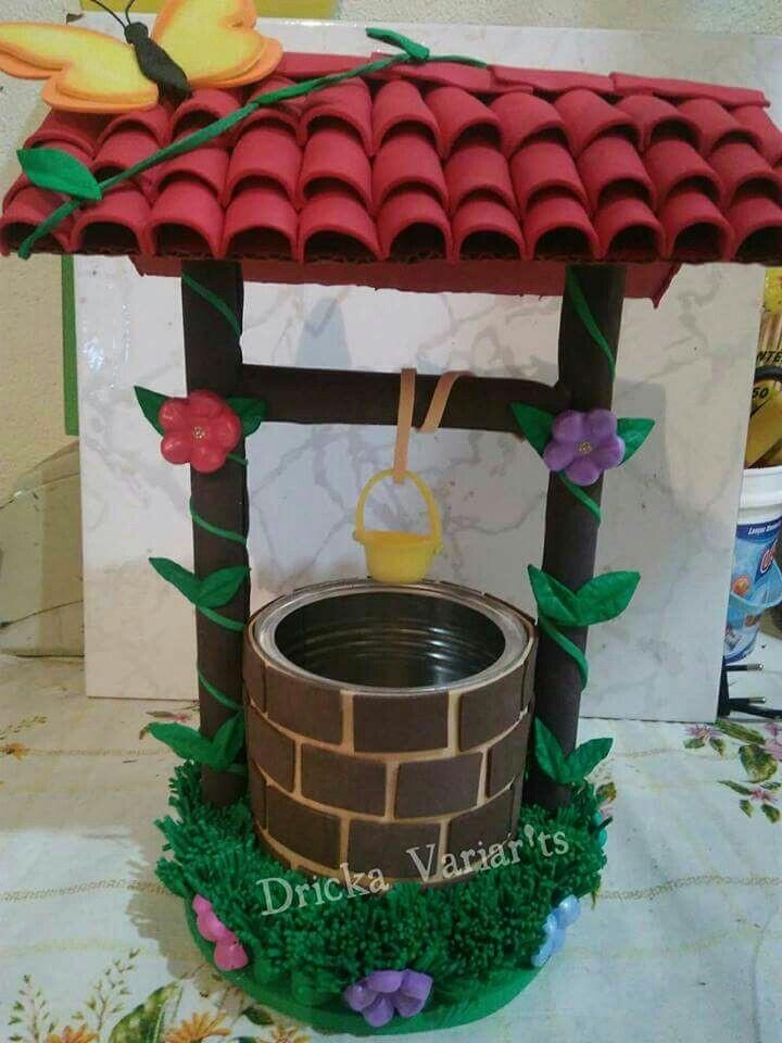 Mi Fiesta Creativa Haz Un Bello Pozo Decorativo Usando Una Lata