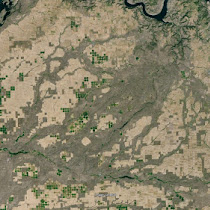 Telford Scablands features shaped by the Ice Age Floods (GoogleEarth views)