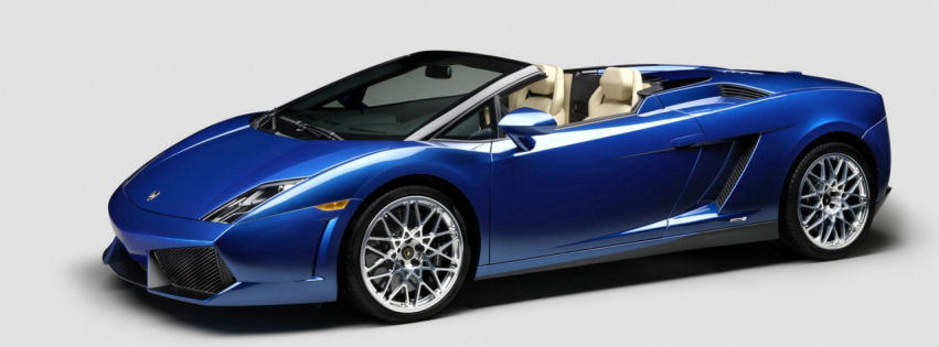Lamborghini gallardo lp550 spyder facebook cover