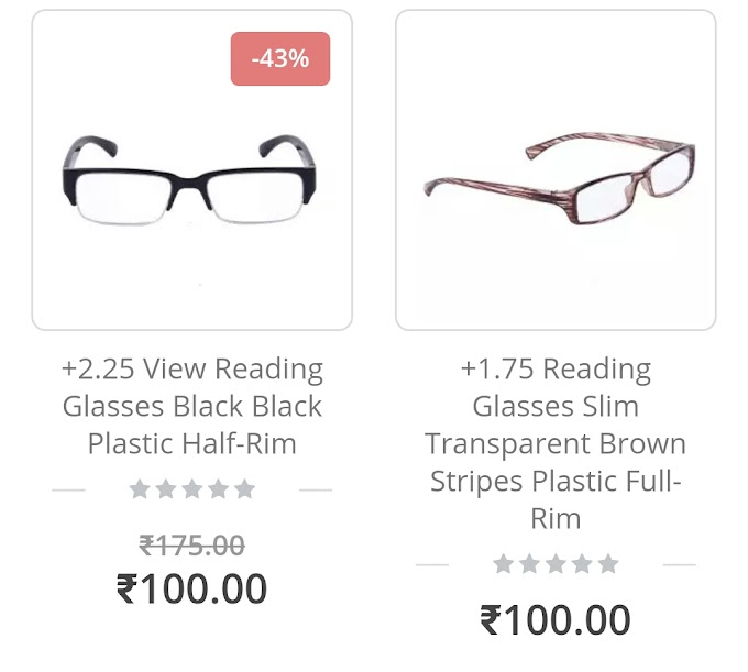 ClearDekho - Buy Reading Glasses at Just Rs.100 + 100% Cashback Via Paytm Wallet