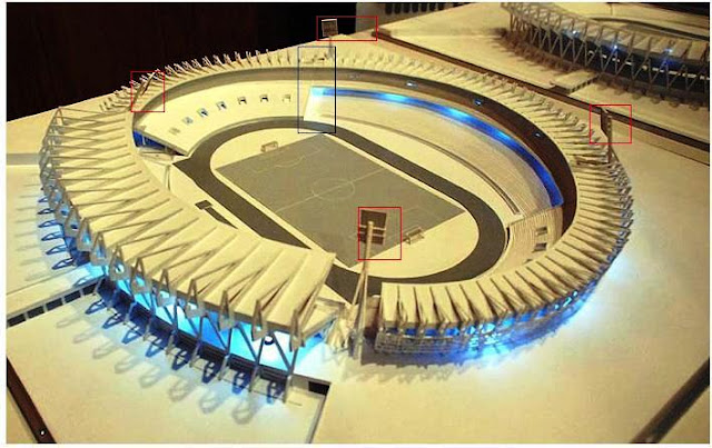 Maqueta del Estadio Mario Kempes de la ciudad de Córdoba