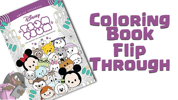 Art Of Coloring Disney Tsum Tsum  Coloring Book Flip Through