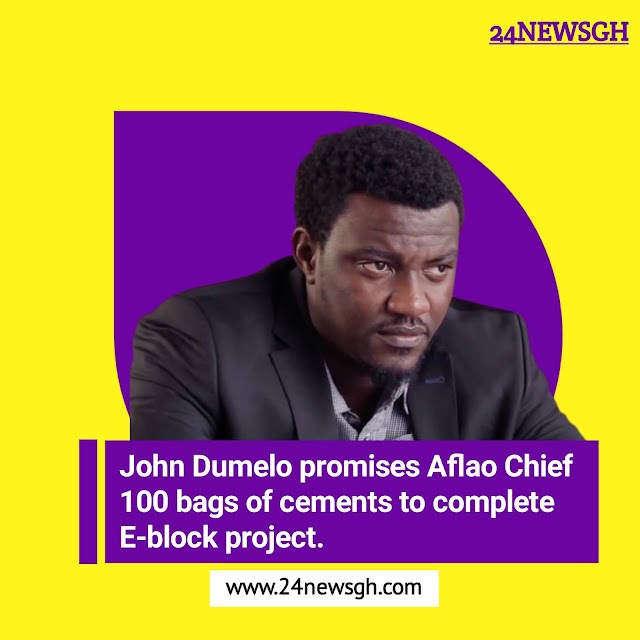 John Dumelo promises Aflao Chief 100 bags of cements to complete E-block project