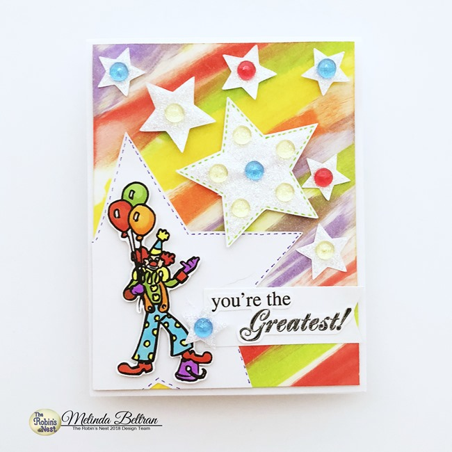 robins nest clown card2