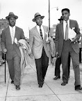Montgomery Bus Boycott - 1956 Rev. Ralph Abernathy (left), Rev. Martin Luther King, Jr. (center), and Bayard Rustin leave the Montgomery County courthouse on February 24, 1956. The civil rights leaders were arraigned along with eighty-seven other activists. Thousands of supporters walked in protest against the mass indictments and arrest. (AP/Wide World Photos)